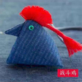 Chinese rooster sachet
